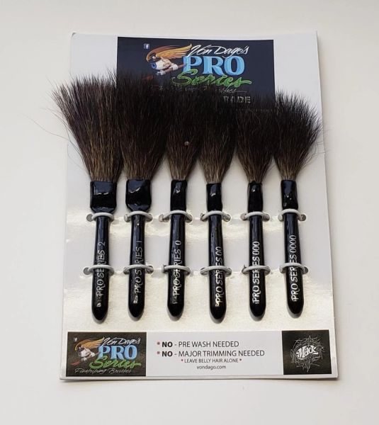 "6 brush ""Pro-Series"" Pinstriping SET"