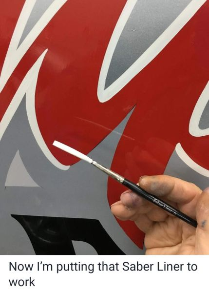 Saber Liner # 6 - Out Lining Lettering brush