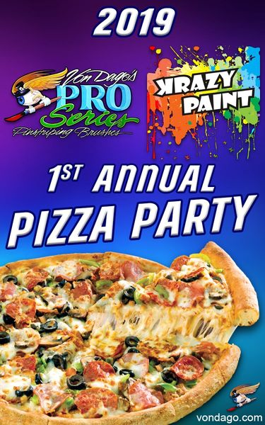 2019 Krazy Paint 1st Annual - Pizza Party - MAGNET