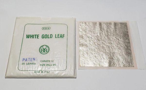 """REAL 12-K White Gold Leaf """"23"""" sheets"""
