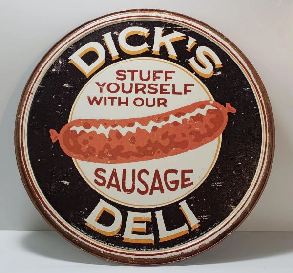 Patina Weathered - Dick's Deli SIGN