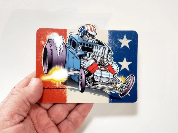 "All American Nitro ~ 5"" Gasser Sticker"