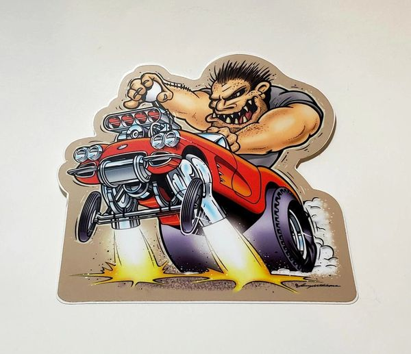 "'62 Corvette GASSER 5"" STICKER"