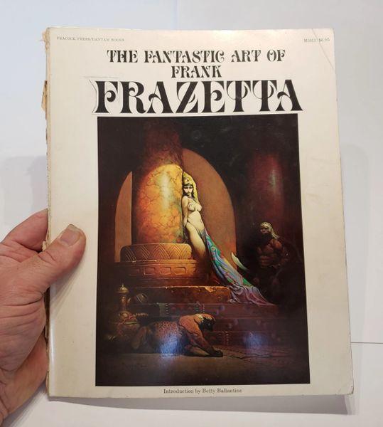 """TWO """"RARE"""" Original 1970's Frank Frazetta ART BOOKS"""