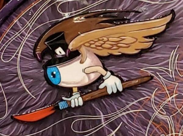 "Pro Series """"Flying Eyeball"""" Logo METAL Blank"