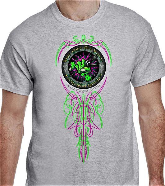 """Monster Hand Logo #2 FULL FRONT & BACK """"Ash Gray"""""""