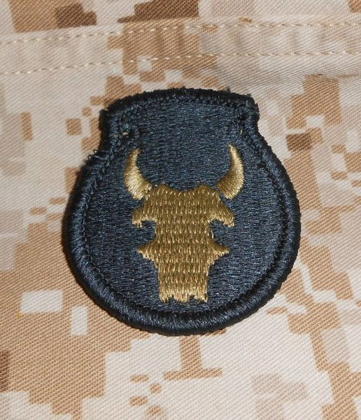 34th Infantry Division patch in OCP