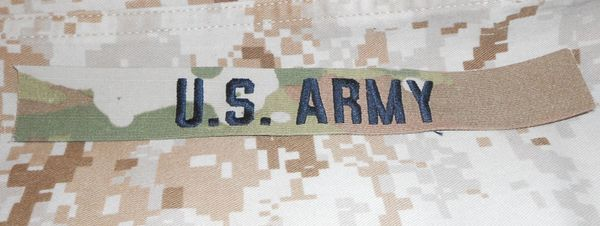 US ARMY tape in OCP sew on