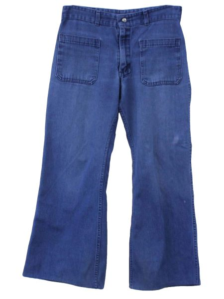 US Navy Men's USED 1970-80s Era Denim MEN'S jeans Bell bottoms/dungarees, made by Seafarer