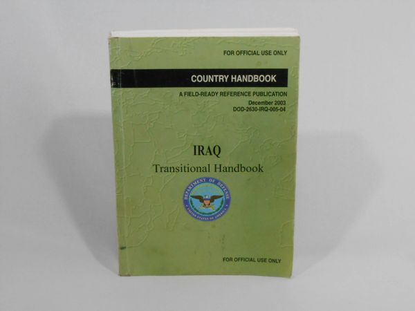 Manual on IRAQ Transitional Handbook