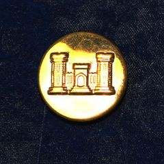 US Army Combat Engineer Insignia Collar Disk
