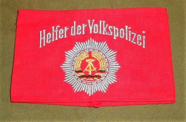 Freiwilliger Helfer der Volkspolizei arm band (East German)