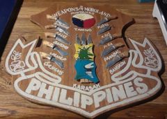 Plaque of weapons of the Philippines