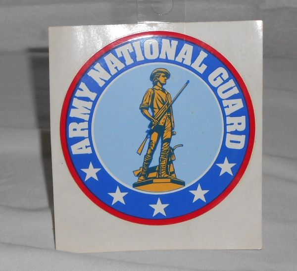 Army National Guard bumper sticker