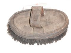 Vintage WW1 Leather Horse Brush