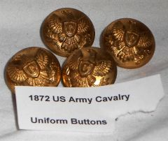 Indian Wars -1872 US Army Cavalry Uniform Button