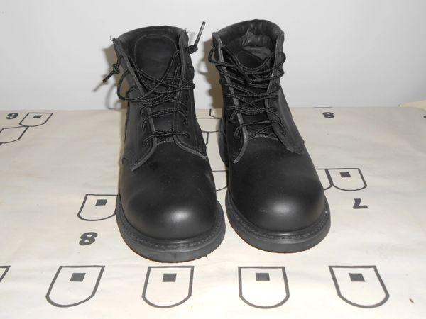 USN Black Navy Deck Boots Size 9W