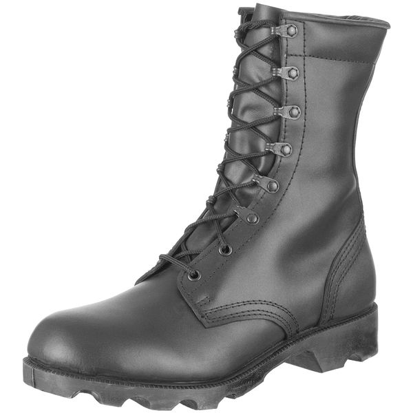 Black boots, basic issue style, used