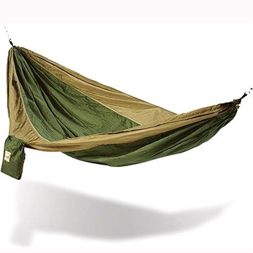 Hammaka Parachute Silk Hammock Army Green/Brown