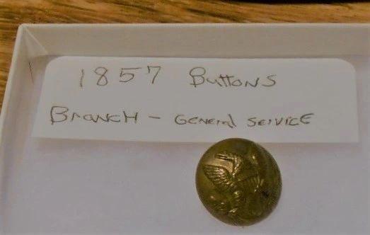 Civil War union soldiers uniform button 1857 Design. #2