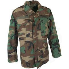Used Woodland Camouflage, BDU M-65 Field Jacket