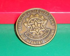 Military Challenge coin #6 205th Infantry Brigade (Arctic Light)