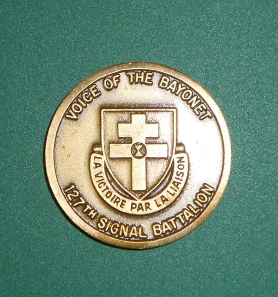 Military Challenge coin #8 7th Infantry Division 127th Signal Battalion