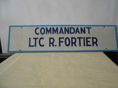 Vintage Military Sign Commandant