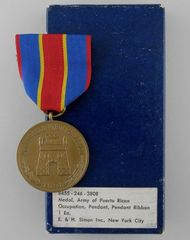 Army of Puerto Rican Occupation Medal 1898