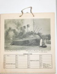 1938 Calendar from Hamburg, Germany photos