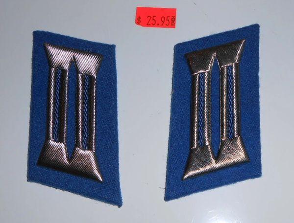 East GermanTransportation Police Collar Tabs (Blue/Silver)