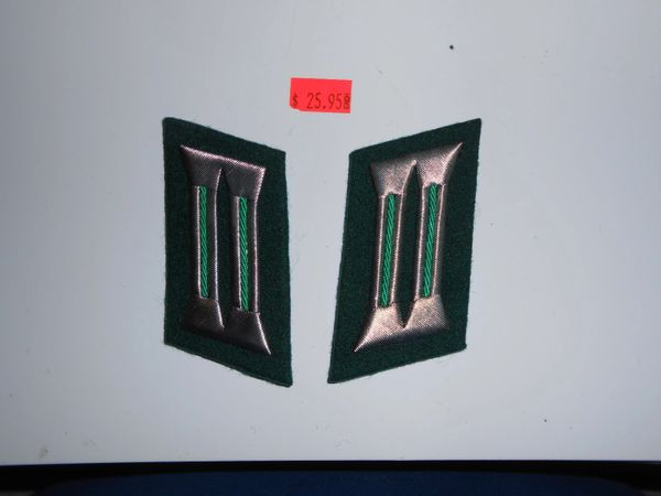 East German Boarder guard Officer Collar Tabs