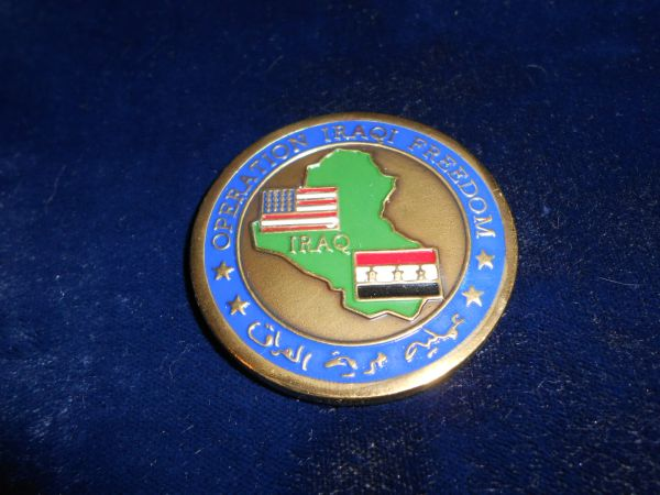 Military Challenge coin #19 Operation Iraqi Freedom Coin