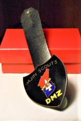 "Vintage 2nd Infantry Division Imjin Scouts DMZ Badge ""The LAST ONE"""