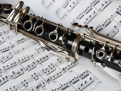 Clarinet with music