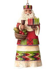 Jim shore African Santa Ornament