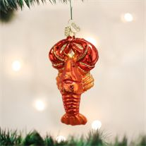 Old World Lobster Glass Ornament