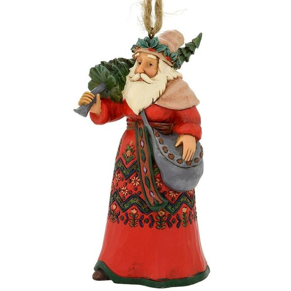 Jim Shore Swedish Santa Ornament