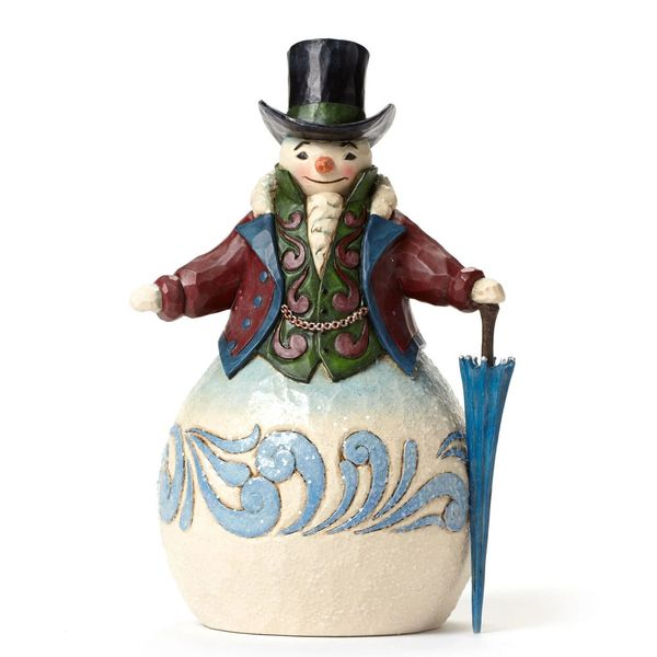 Jim Shore Victorian Snowman With Umbrella