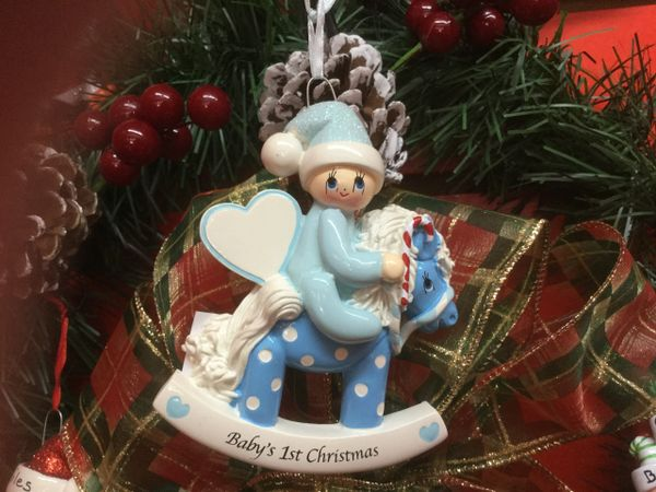 Baby's First Christmas. Rocking Horse (Boy)