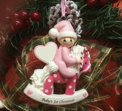 Baby's First Christmas Rocking Horse (Girl)