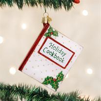 Old World Christmas Cookbook Glass Ornament