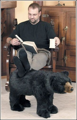 Ditz Design Black Bear Footrest