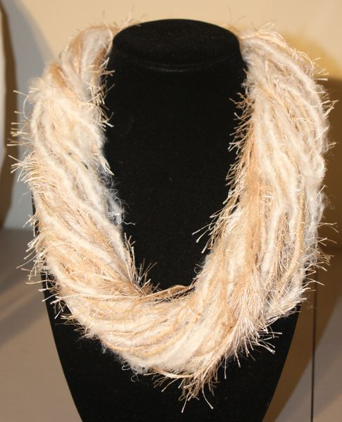 Beige Yarn Necklace