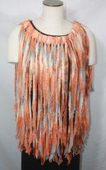 Burnt Orange and Gray Tiedye Flutter Skirt or Poncho