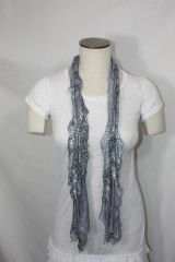 Gray, Silver and Black Flutter Scarf