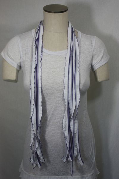 Purple, Black and White Flutter Scarf