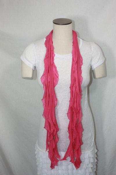 Magenta Pink Flutter Scarf