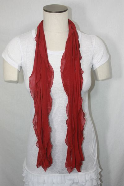 Cherry Red Flutter Scarf