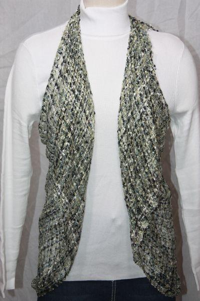 YRDUD Woven Grey/Cream/Black Vest/Scarf